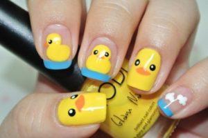 bath ducks nail art