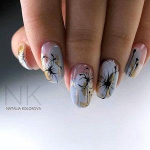 Floral patter nail foil