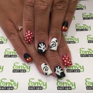 disney and mickey mouse nail art