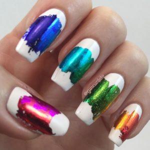 rainbow colours metallic foil
