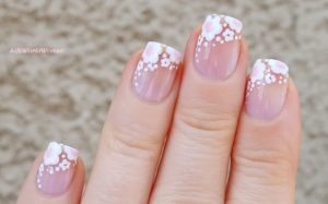 White florals on tips