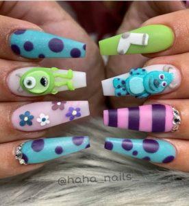 cartoon character nail stickers