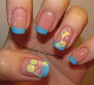 baby accessory nail art