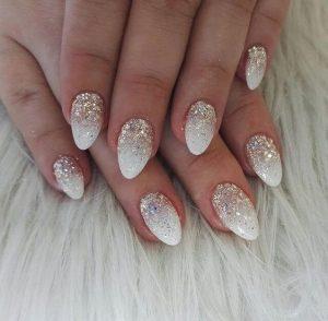 white almond glitter