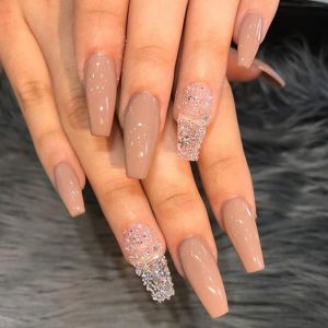 nude and clear long