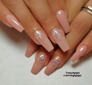 nude white glitter