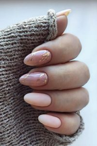 nude with gold marble