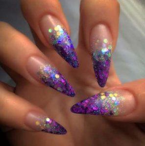 bright purple glitter