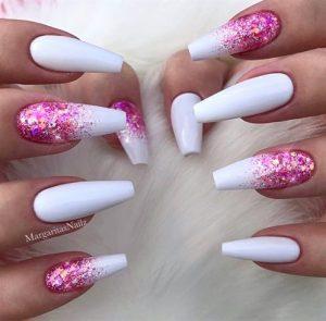 white pink glitter