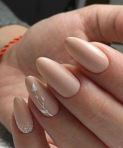 almond nude white
