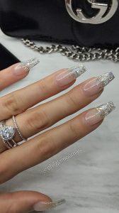 glitter tips silver