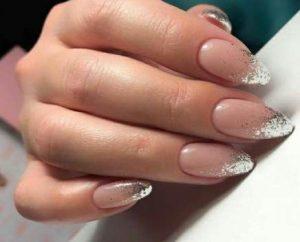 nude silver glitter