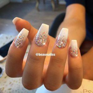 colorful glitter white