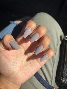 A coat of grey polish