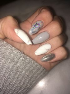 Chrome foil used for nail design on accent nail