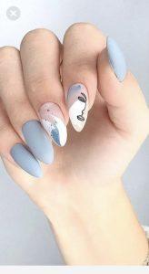 abstract portrait nail art