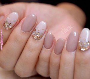 Rhinestone gradient on accent nails
