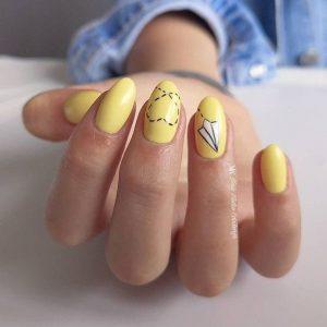 Paper plane nail art