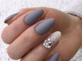 Grey Acrylic Nails Designs