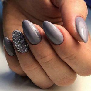 Wedding Grey Acrylics