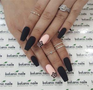 nude flower black