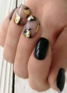 gold clear marble black