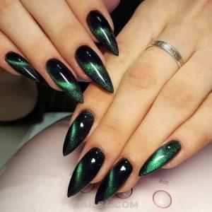 green glitter on black