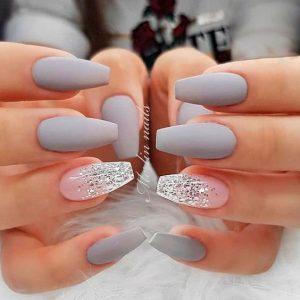 matte grey shimmer