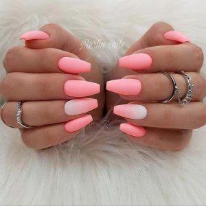 matte pink white