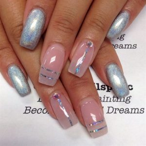 holographic clear stripe