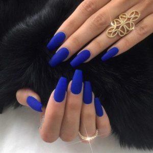 matte bright blue