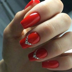 rhinestone red nails crown