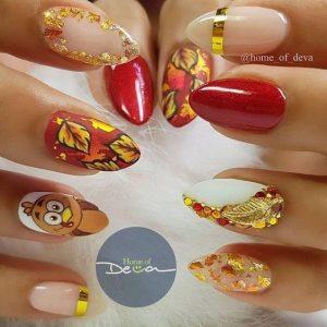 gold embellished thanks