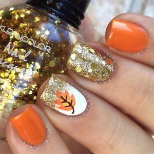 gold orange glitter