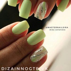 lime green glitter swirl