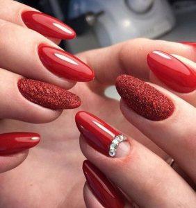 red glitter rhinestone