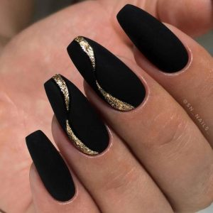 matte black gold twist