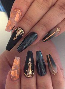 gold rhinestones black ombre
