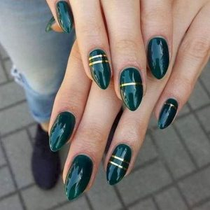 dark green gold stripe