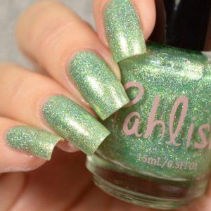 pastel green glitter