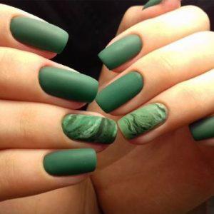 matte green swirling