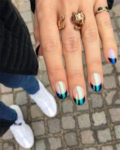 blue iridescent tip