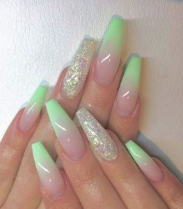 lime french ombre