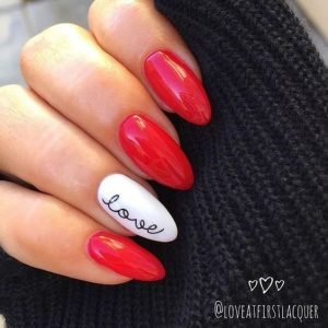 red love nails