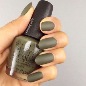 olive green matte finish
