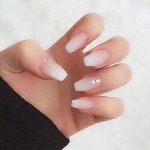 stones on matte ombre white