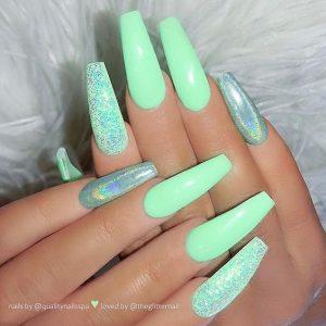 glittering mint