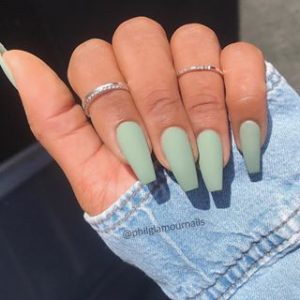 matte toned down green
