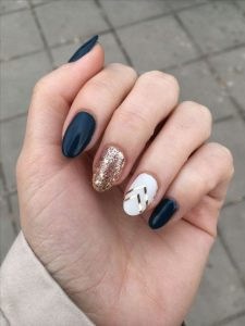 gold white design with navy