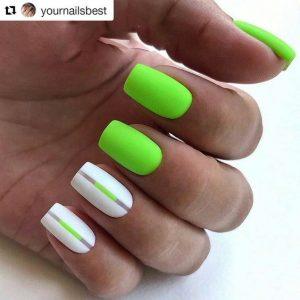 stripe white neon